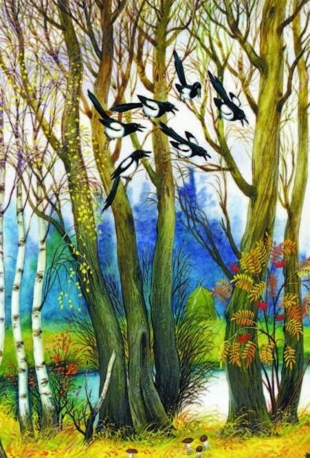 жировая иван соколов микитов лесные картинки митчелл имеет интересную